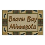 Beaver Bay Minnesota Loon Rectangle Sticker 50 pk
