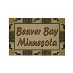 Beaver Bay Minnesota Loon Rectangle Magnet