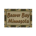 Beaver Bay Minnesota Loon Rectangle Magnet (100 pa
