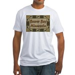Beaver Bay Minnesota Loon Fitted T-Shirt