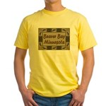 Beaver Bay Minnesota Loon Yellow T-Shirt