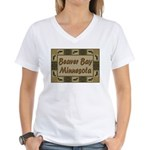 Beaver Bay Minnesota Loon Women's V-Neck T-Shirt