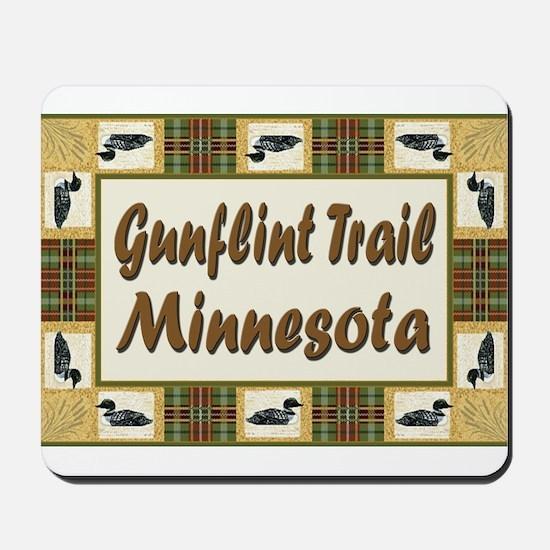 Gunflint Trail Minnesota Loon Mousepad