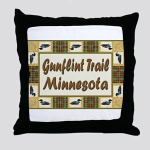 Gunflint Trail Minnesota Loon Throw Pillow