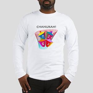 Chanukah Spinning Dreidles Long Sleeve T-Shirt