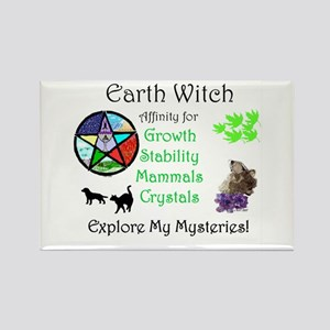 Earth Witch Rectangle Magnet