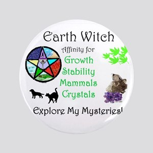 """Earth Witch 3.5"""" Button"""