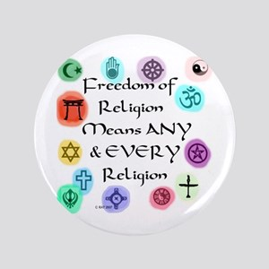 """Freedom of Religion 3.5"""" Button"""