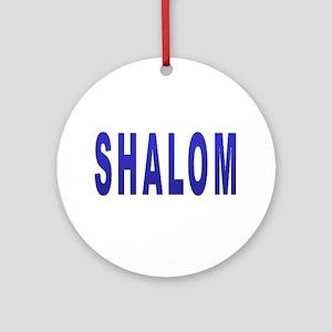 JEWISH SHALOM HEBREW Ornament (Round)