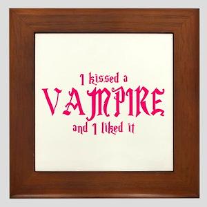 Kissed Vampire Framed Tile