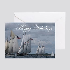 holiday greeting cards pk of 20 - Nautical Christmas Cards