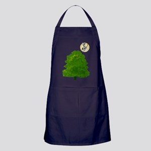 Cat On A Broomstick Apron (dark)