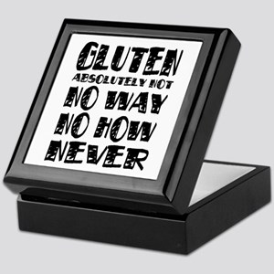 Gluten No Way Keepsake Box