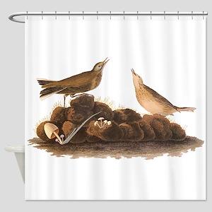 Brown Lark Audubon Birds of America Vintage Shower