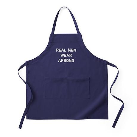 Real Men Wear Aprons Apron (dark)