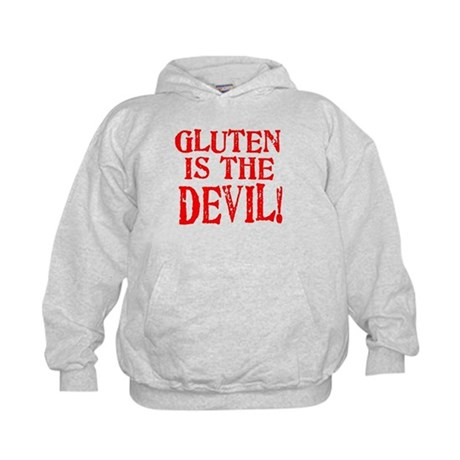Gluten Is The Devil Kids Hoodie