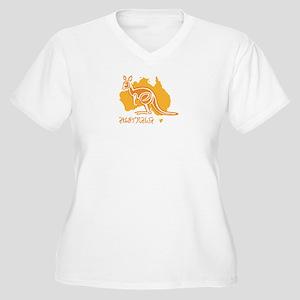 AUSTRALIA Women's Plus Size V-Neck T-Shirt