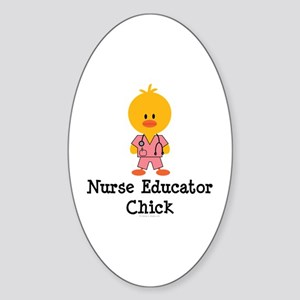 Nurse Educator Chick Oval Sticker