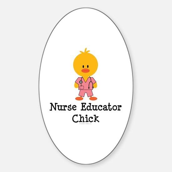 Nurse Educator Chick Oval Decal