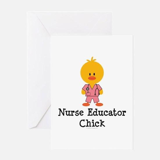 Nurse Educator Chick Greeting Card