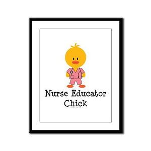 Nurse Educator Chick Framed Panel Print