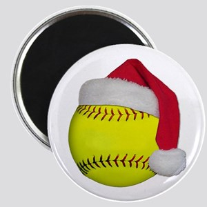 Softball Santa Magnet