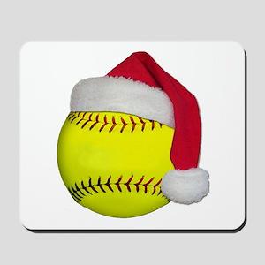 Softball Santa Mousepad