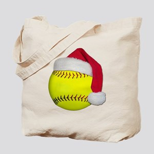 Softball Santa Tote Bag