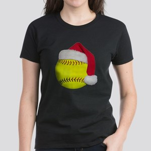 Softball Santa Women's Dark T-Shirt