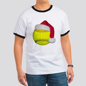 Softball Santa Ringer T