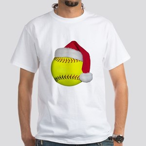 Softball Santa White T-Shirt