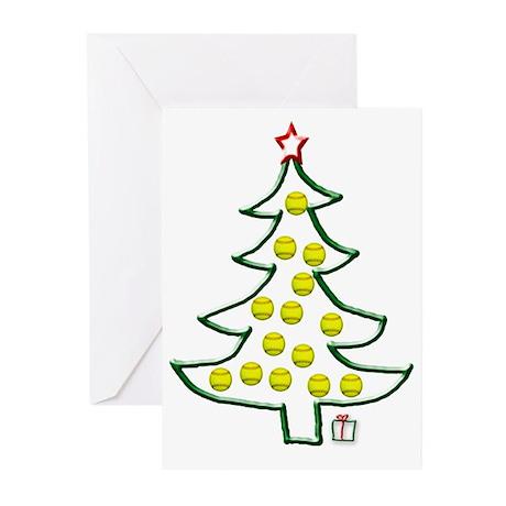 Softball tree Greeting Cards (Pk of 20)