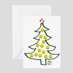 Softball tree Greeting Card