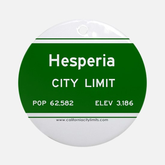 Hesperia Ornament (Round)