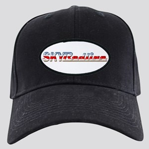 Stylized Chrome SKY Redline Black Cap