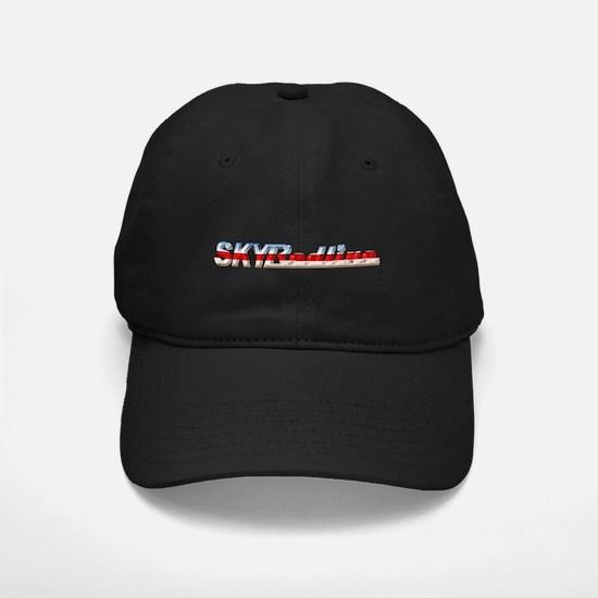 Stylized Chrome SKY Redline Baseball Hat