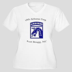 18th ABN Corps Women's Plus Size V-Neck T-Shirt