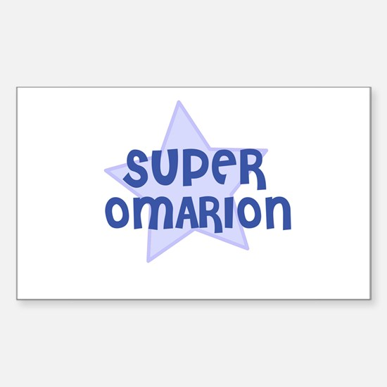 Super Omarion Rectangle Decal