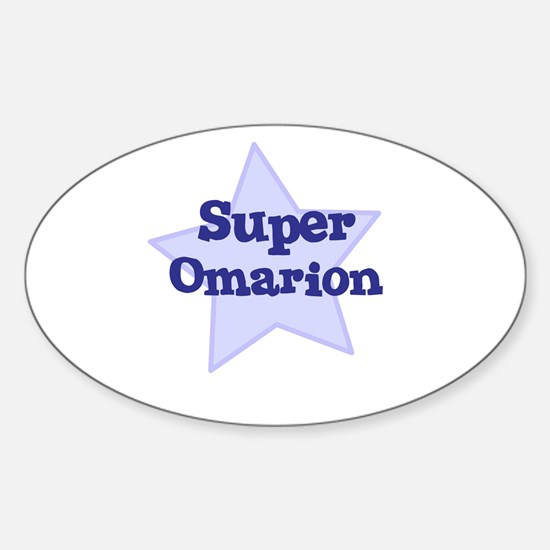 Super Omarion Oval Decal
