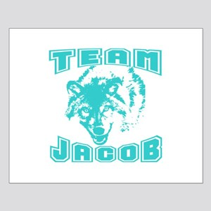 Team Jacob ~ Cyan Small Poster