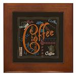 Coffee Spice Framed Tile