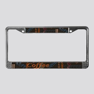 Coffee Spice License Plate Frame