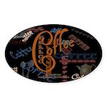 Coffee Spice Oval Sticker