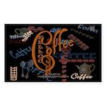Coffee Spice Rectangle Sticker