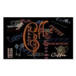 Coffee Spice Rectangle Sticker 10 pk)