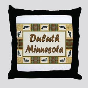 Duluth Loon Throw Pillow