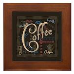 Coffee Mocha Framed Tile