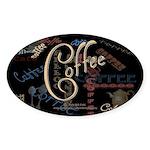 Coffee Mocha Oval Sticker (10 pk)