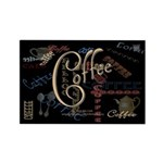 Coffee Mocha Rectangle Magnet