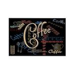 Coffee Mocha Rectangle Magnet (100 pack)